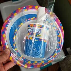 Razzles child Dish Bowl Cup Fork Spoon Dinner Set
